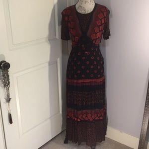 Vintage Carol Little Boho/Tribal Maxi Dress 4